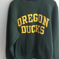 vintage university of oregon ducks crewneck / medium