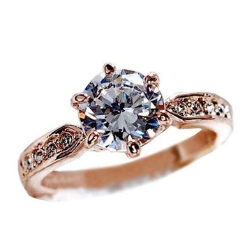Fashion Woman Jewelry Diamond Engagement Wedding Rings