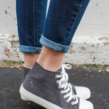 Wander About High Tops - Charcoal