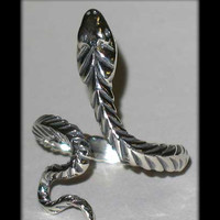 Adjustable Sterling Silver Coil Snake Ring