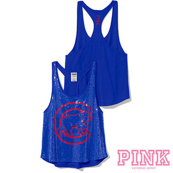 Chicago Cubs Victoria's Secret PINK® Bling Racerback Tank - MLB.com Shop