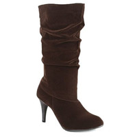 Mid-Calf Boots With Stiletto Heel