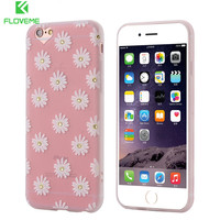 FLOVEME Rhinestone Coque For iphone 6 6s Plus Case Glitter 3D Cute Crystal Diamond Flowers Bling Back Cover For iPhone6 6s Fouda