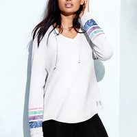 V-neck Hooded Tunic - Fleece - Victoria's Secret