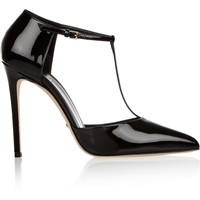 Gucci - Patent-leather T-bar pumps