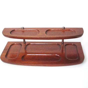 Vintage Valet Tray, Phone Charging Station, Desk Organizer Tray