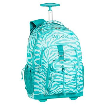 Gear-Up Pool Zebra Rolling Backpack
