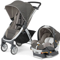 Chicco Bravo Trio 3-in-1 Baby Travel System Stroller w/ KeyFit 30 Papyrus