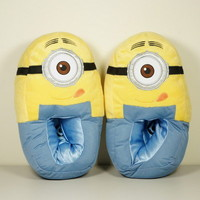 Despicable Me Minion Bedroom Slippers Plush Adult Small US Women's 7-8
