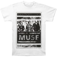 Muse Men's  Photo Block T-shirt White Rockabilia