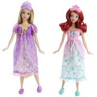 DISNEY Princess Royal Slumber Party Ariel and Rapunzel Dolls - Shop.Mattel.com