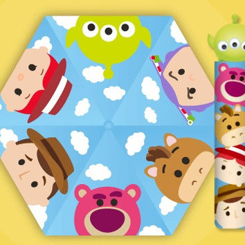 Disney Tsum Tsum Character Cute Big Head Lightweight Umbrella Toy Story Ver Woody Buzz Lightyear Aliens