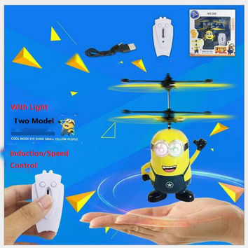 New Minions New 2model Control Up/Down RC Helicopter Flying Despicable Me Quadcopter Drone Ar.drone Kids Toy VS Fairy Doll x5c