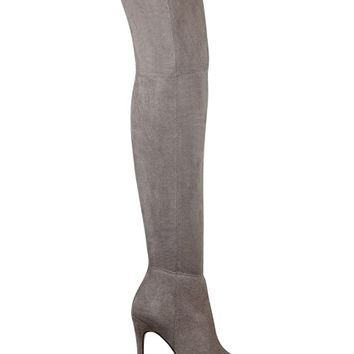 Zonian Faux-Suede Over-the-Knee Boots | GUESS.com