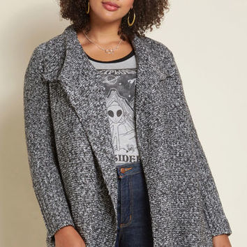 Mosy into Cozy Oversized Cardigan in Pepper