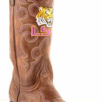 Gameday Lsu Mens Leather Boots M003 - Brass