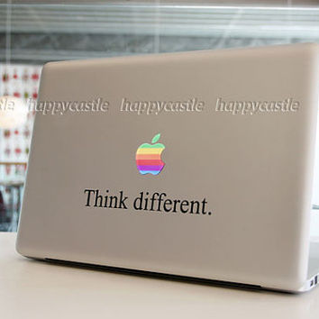 Think Different Mac Decal Macbook Stickers by Newvision2012