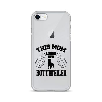 This Mom Loves Her Rottweiler iPhone Case
