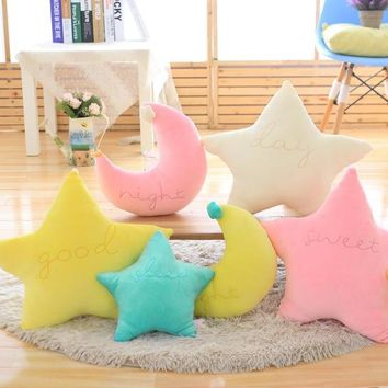 Baby Pillow Toys Soft Appease Star Moon Cloud Calm Doll Plush Toys Stuffed Doll Cute Bed Decoration Cushion Brinquedos Gift25cm