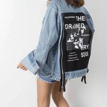 Drained My Soul Denim Jacket