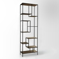 Reclaimed Pine + Iron Bookcase