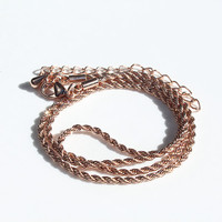 Rose Gold Plated Rope Chain, 18 inch 3.8mm Rope Chain, Diamond Cut Rope Chain, Jewelry Supplies, Rose Gold Chains (1-144)