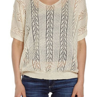 Women's Beige Knit Pull Over Sweater