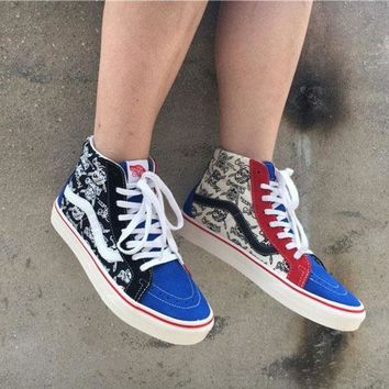 Vans Sk8-hi 50th Pirate Skull Head Sneakers Convas Casual Shoes - Beauty Ticks