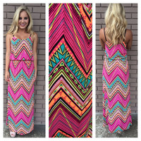 Get to the Point Multi Color Maxi Dress
