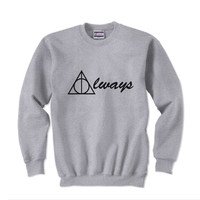 Always Deathly Hallows Harry potter Unisex Crewneck Sweatshirt