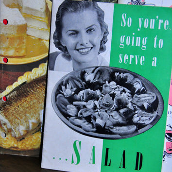 "Pompeian Olive Oil Vintage Recipe Booklet ""So You're Going to Make a Salad"" Product Cookbook"