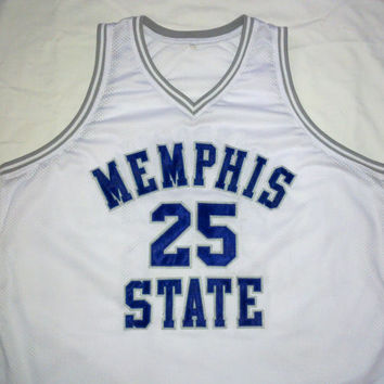 Penny Hardaway Memphis State Home White College Jersey Gift Stitched Any Size