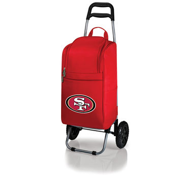 San Francisco 49ers - Cart Cooler with Trolley (Red)