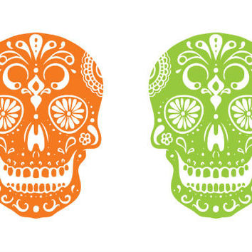 Day of the Dead Skull Tattoo Set