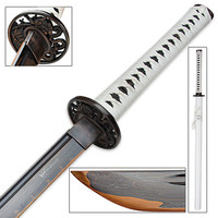 Shinwa - Arctic Shadow Ninja Sword w/ Black Damascus