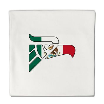 "Hecho en Mexico Eagle Symbol - Mexican Flag Micro Fleece 14""x14"" Pillow Sham by TooLoud"