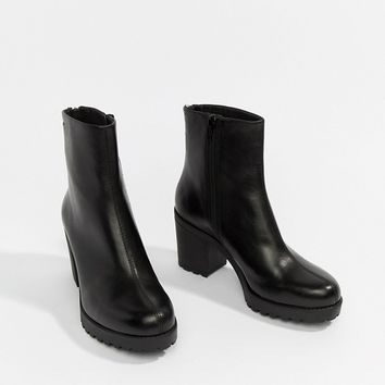 Vagabond Grace Leather High Cut Ankle Boot at asos.com