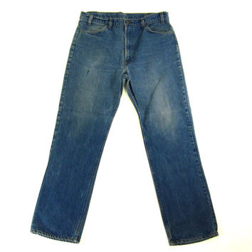 Levi's 505 Rinsed Indigo Jeans - Orange Tag 36 W, 32 L - Men's Size Large LRG L