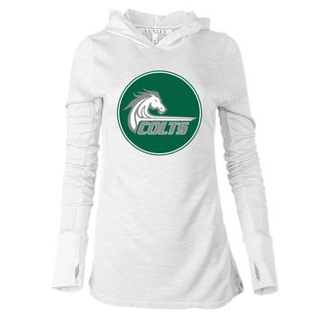 NCAA Canada College Colts 03CNC Women's Long Sleeve Thumbhole Hoodie