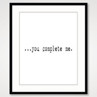 motivational wall decor inspirational quote black and white art typographic print poster romantic couple art wedding gift typewriter bedroom
