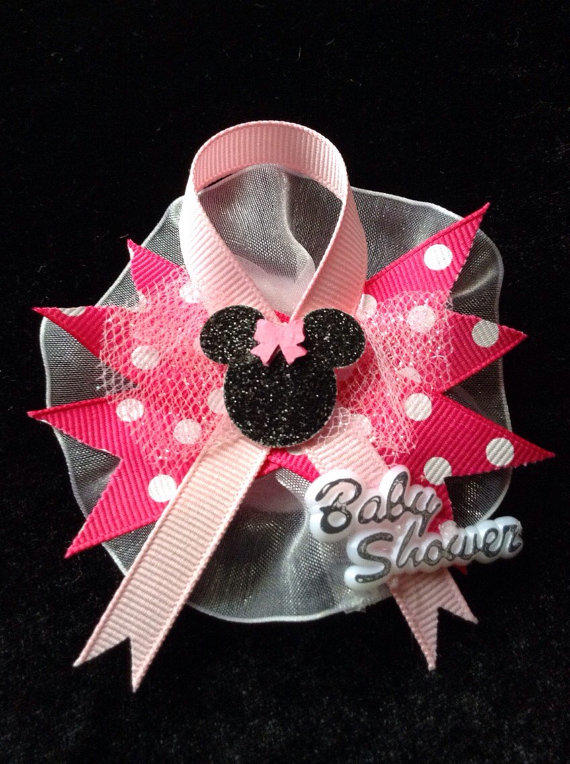 Minnie Mouse Baby Shower Guest Pins 12 From Cutestfavors On