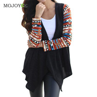 Long Sleeve Knitted Women Cardigan Loose Oversize Sweater Outwear Coat Ptrinting Poncho Cardigan Women Christmas Sweater