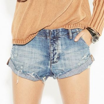 BLUE SUEDE SAILORS RELAXED FIT DENIM SHORT