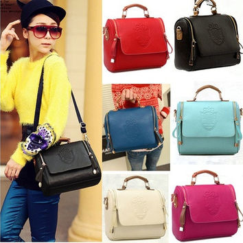 Fashion Women Handbag Vintage Stamping Shield Camera Satchel Shouder Bags Black 7_S [10198321159]