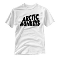 Arctic Monkeys Letters Print Women Tshirt Cotton Casual Shirt For Lady White Black Top Tee Big Size Hipster