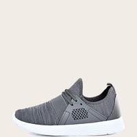 Men Lace-up Front Knit Sneakers