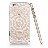 Supertrampshop - White Mandala - Cover Iphone 6 6s Full Protection Durable Hard Plastic Phone Case