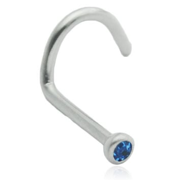 Blue Gem Nose Screw Stud