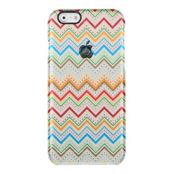 Colorful Chevron Zig Zag Stripe Polka Dots Pattern Uncommon Clearly™ Deflector iPhone 6 Case