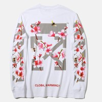One-nice™ Off-White Women Man Fashion Sport Casual Top Sweater Pullover